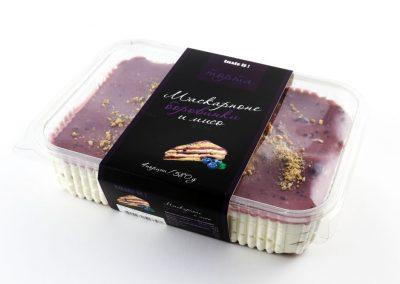 MASCARPONE, BLUEBERRIES, AND MISO CAKE